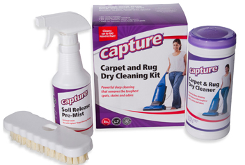 capture carpet & rug dry cleaning kit 2.5lb