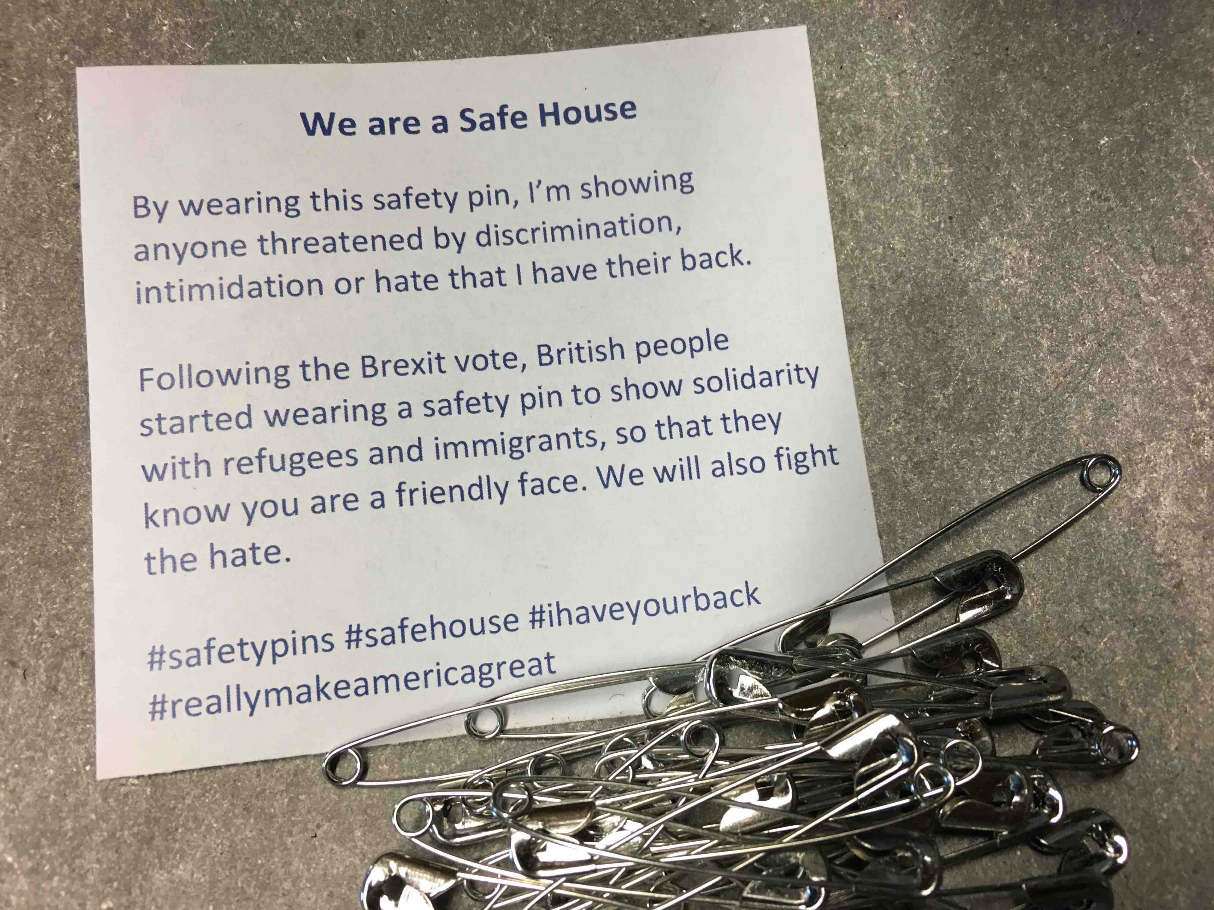 Safe Space Safety Pins